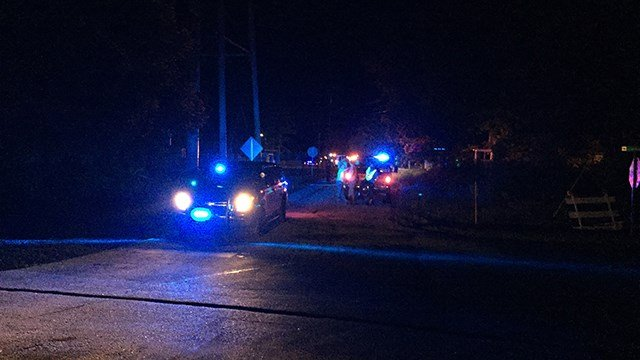 Scene of reported collision on Beaverdam Church Road. (5/24/17 FOX Carolina)