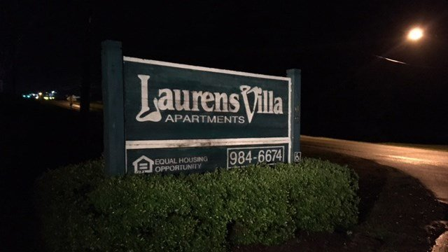 8 individuals were arrested at Laurens Villa apartments after a fight and shooting. (FOX Carolina/ 5/24/17)