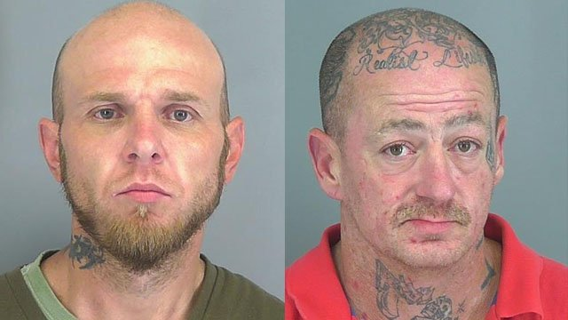 Arnold (left) and Wykel (Courtesy: Spartanburg Co. Sheriff's Office)