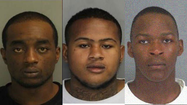 Left to right: Jamaal Higgins, Tarrance Mckissick and Robert Reynolds (Source: Woodruff Police)
