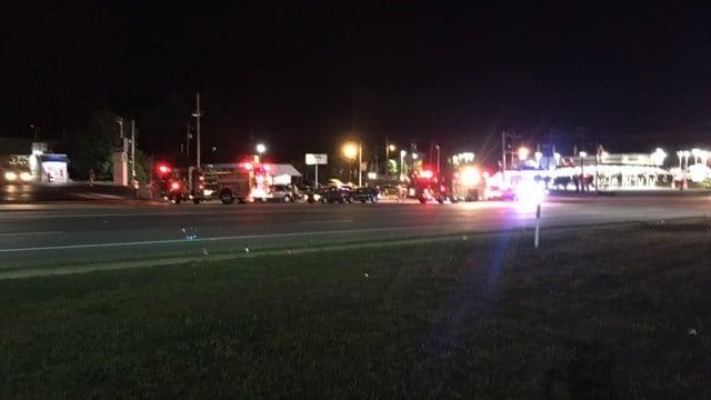 Scene of incident on Wade Hampton Blvd. (FOX Carolina/ 5/26/17)