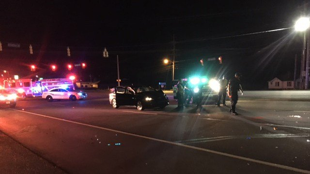 Scene of incident on Wade Hampton Blvd. (FOX Carolina/ 5/26/17)