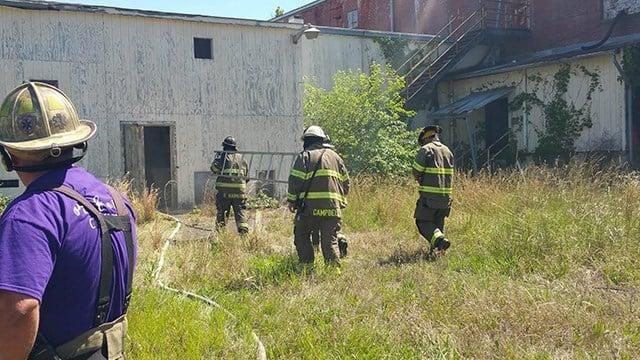 Fire at mill in Iva (Source: FOX Carolina/ 5/26/17)