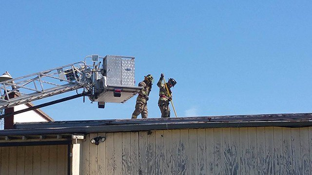 Crews battle fire at mill in Iva (Source: FOX Carolina/ 5/26/17)