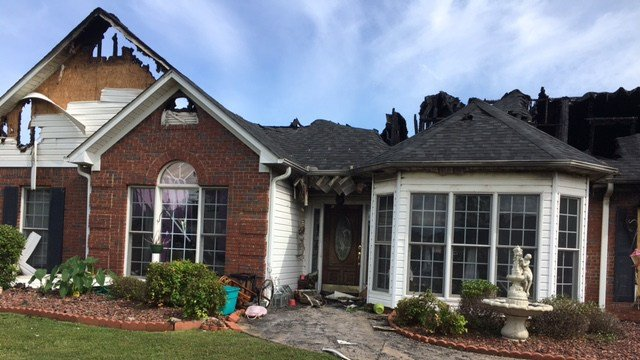 Home burned in house fire on Hunters Point Drive. (5/28/17 FOX Carolina)