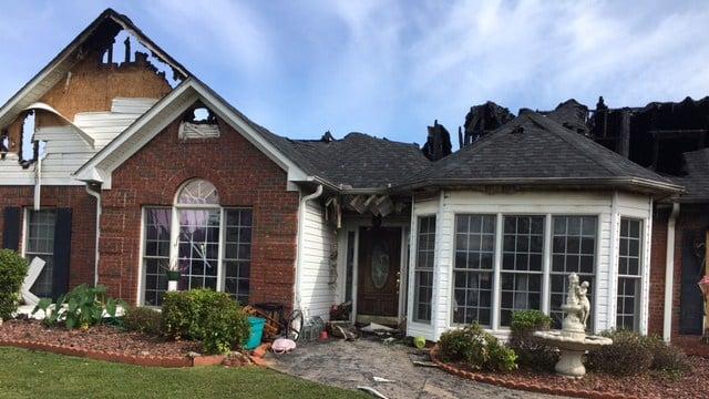 Home burned in house fire on Hunters Point Drive. (5/28/17 FOX Carolina)