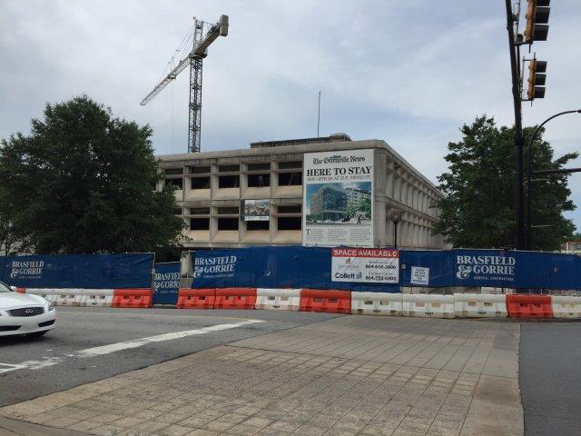 Demolition underway at Greenville News building (May 30/ 2017/ FOX Carolina)