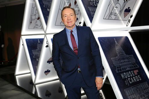 "Kevin Spacey seen at the ""House of Cards"" event at the Netflix FYSee exhibit space. (Photo by Blair Raughley/Invision for Netflix/AP Images)"