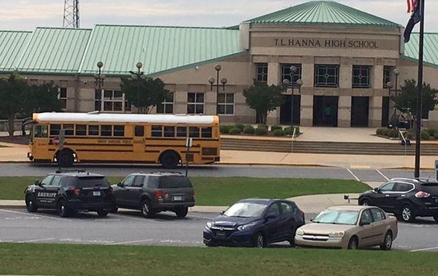Deputies at TL Hanna High School (May 31, 2017/FOX Carolina)