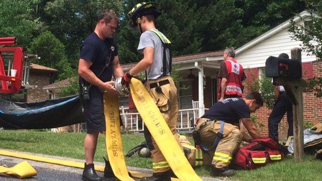 House fire in Taylors (May 31, 2017/FOX Carolina)