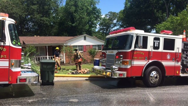 House fire in Taylors (May 31, 2017/FOX Carolina)