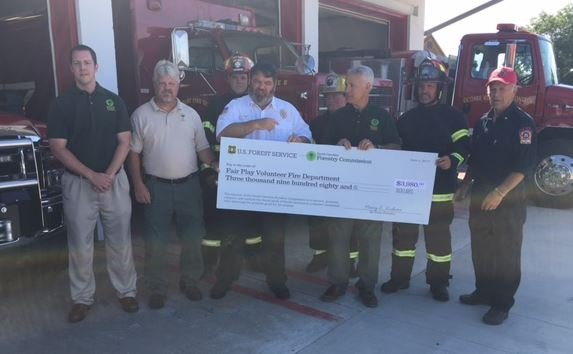 Fair Play FD receives check (FOX Carolina/ June 2, 2017)