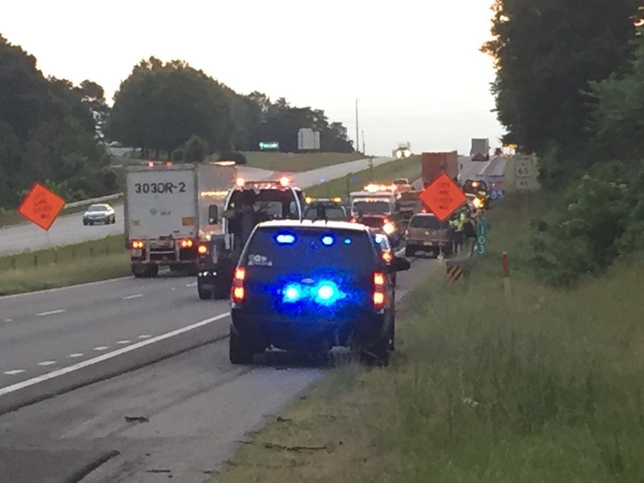 Troopers, firefighters block portion of I-85 northbound in Cherokee Co. after wreck (FOX Carolina: 6/3/2017).