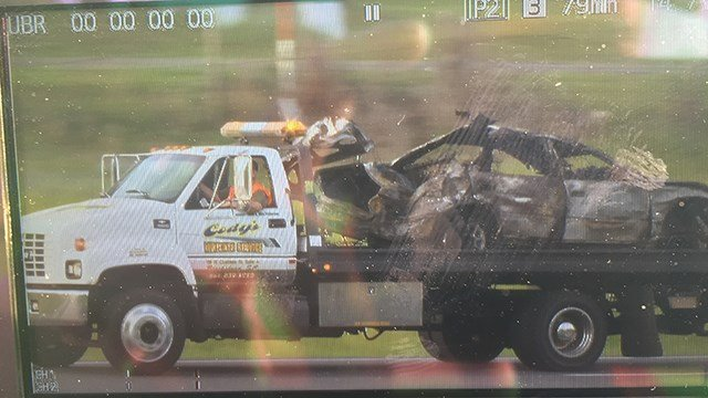 Car towed away from scene of accident. (6/3/17 FOX Carolina)