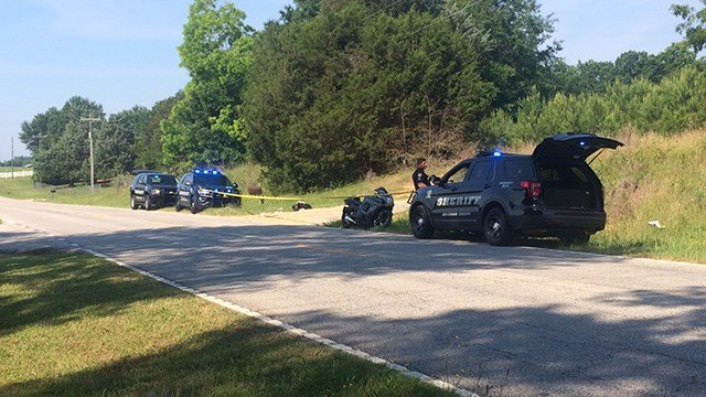 Scene on Liberty Highway after dispatchers say a motorcyclist was shot. (6/3/17 FOX Carolina)