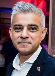 Sadiq Khan, Mayor of London (Source: Wikipedia)