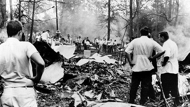 Actual photo from the scene of the airline collision in '67. (Source: AP Images)