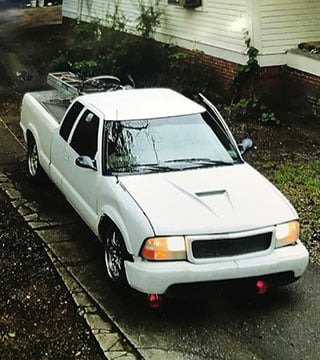 Suspect vehicle in Vannoy Street larceny (Source: GPD)
