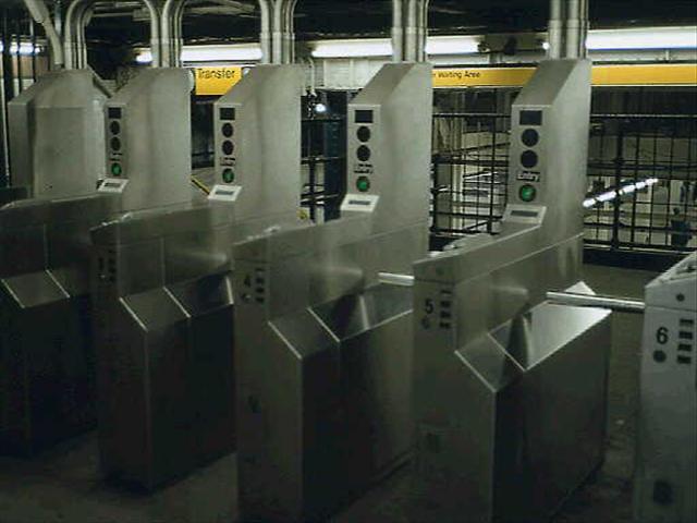New York subway turnstiles (Source: Associated Press)