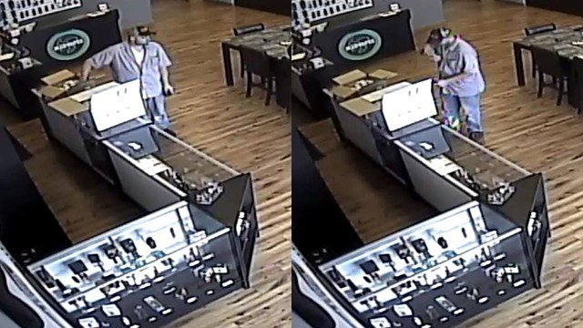 Police: Third person of interest  captured on camera at Madvapes. (Source: Easley PD)