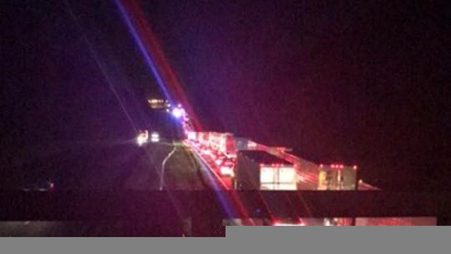 Traffic backed up on I-85 in Anderson following fatal head-on collision. (Source: Josie O.)
