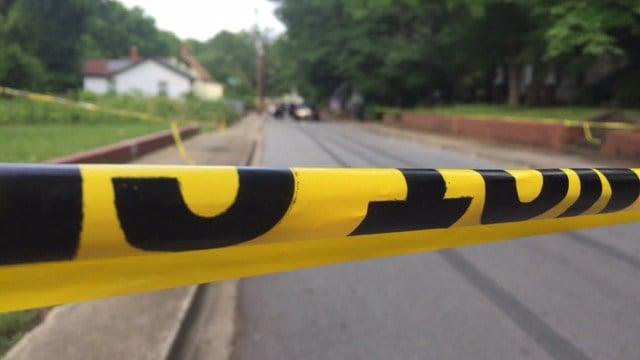 Scene of Thomas Street shooting. (FOX Carolina/ 6/7/17/)