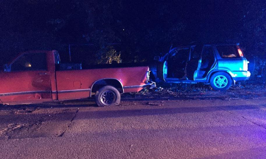 Wrecked vehicles on Case Avenue (FOX Carolina/ June 9, 2017)