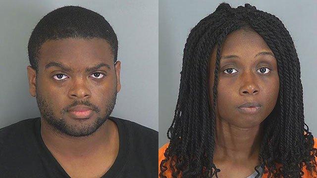 Cordarius Gray (L) and Laquetta Mallory (Source: Spartanburg Co. Detention)