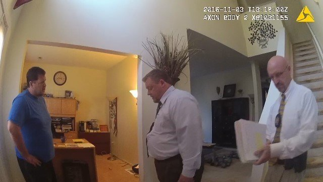 Investigators serve search warrants at Todd Kohlhepp's home (Source: Solicitor's Office)