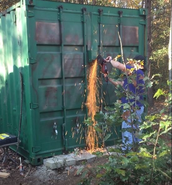 Crews work to open storage container on Todd Kohlhepp's property (Source: Solicitor's Office)