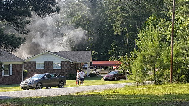 Scene of Union house fire (Source: David Berry)