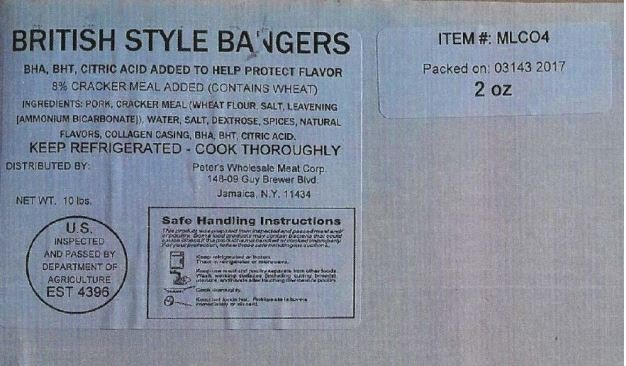 Pork King Sausage product under recall (Source: FSIS)