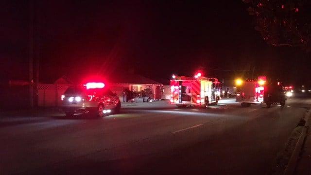 Scene of car vs. house crash in Greenville Co. (FOX Carolina/ 6/10/17)