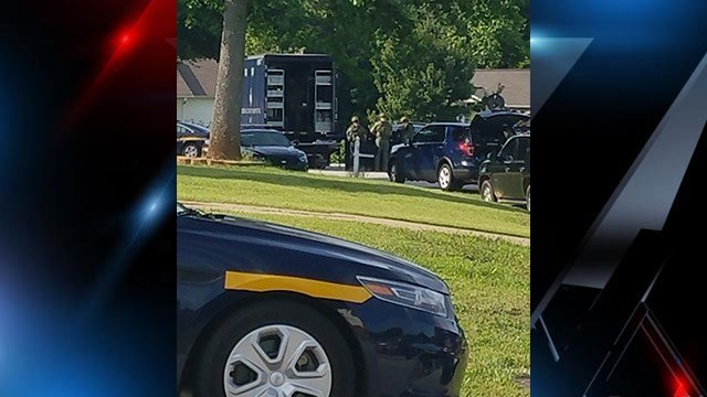 Deputies, SWAT responding to standoff at Fountain Inn home. (Source: Kristal Foley)