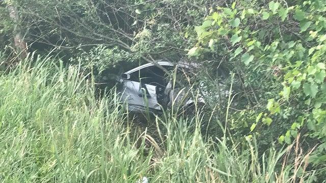 Scene of Spartanburg Co. crash (FOX Carolina/ 6/11/17)