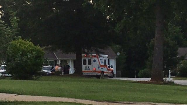 EMS on scene of standoff at Fountain Inn home. (FOX Carolina/ 6/11/17)