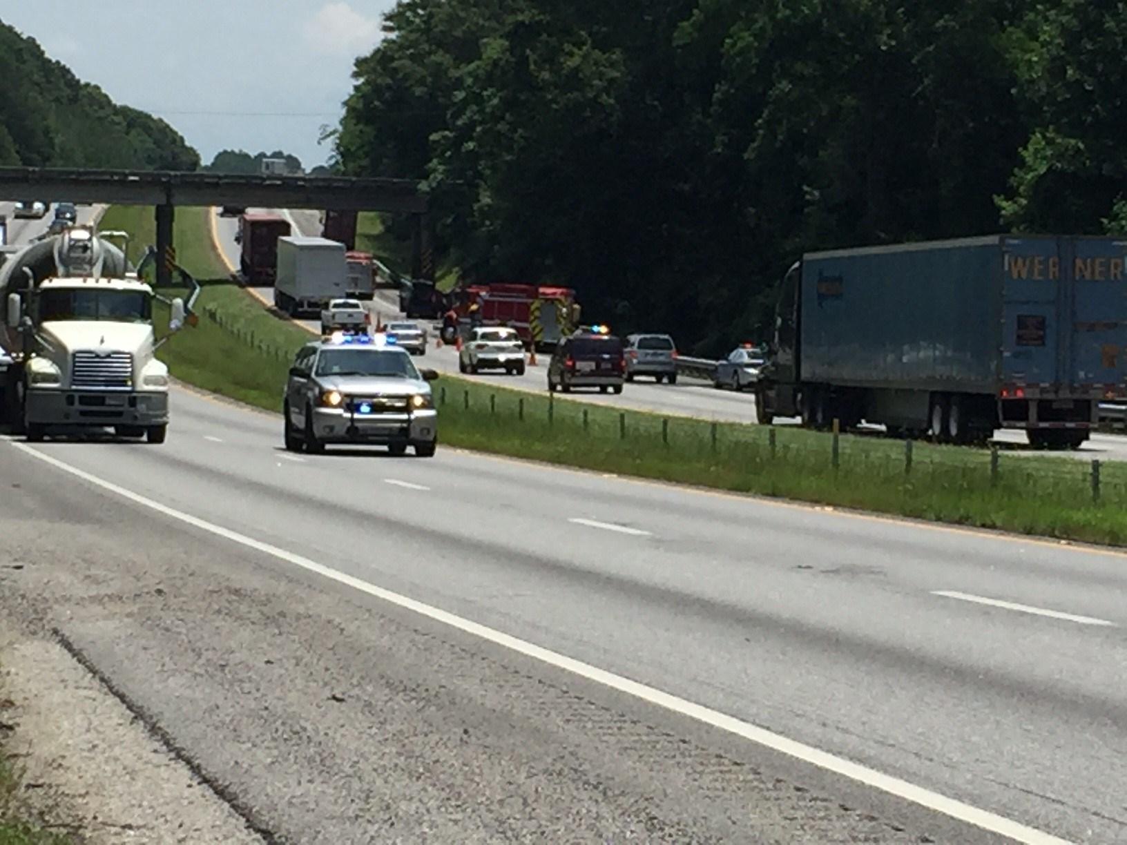 Authorities respond to double fatal crash on I-85 (June 12, 2017/FOX Carolina)