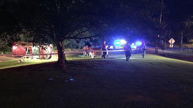 Scene of car collision on Holly Springs Church Road. (6/13/17 FOX Carolina)