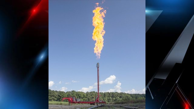 'Flaring' is part of the routine inspection process performed on the pipeline by Piedmont Natural Gas. (Source: Piedmont Natural Gas)