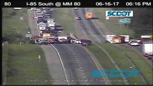 I-85 crash (Source: SCDOT)