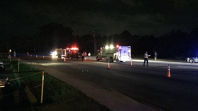 Scene of fatal wreck on White Horse Rd. (6/17/17 FOX Carolina)