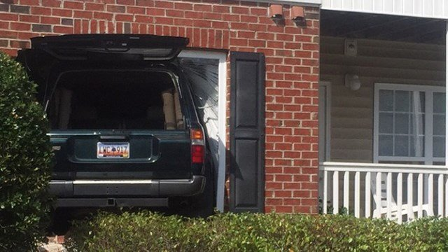 Car into building at Ashton Park Apartments. (Source: Resident)