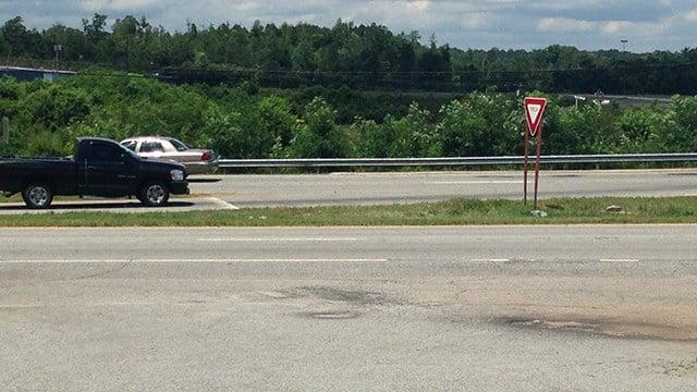 Scene of fatal collision on US 123 in Pickens Co. (6/18/17 FOX Carolina)