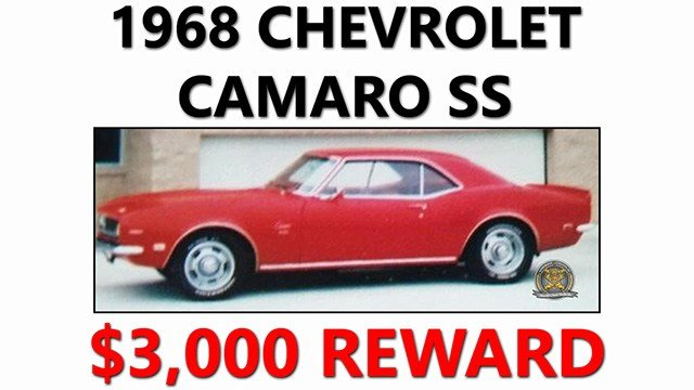 Stolen Chevrolet Camaro SS. (Source: ACSO)