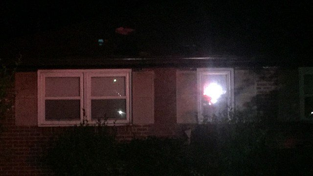 Scene of house fire in Anderson Co. (6/19/17 FOX Carolina)