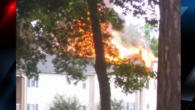Photo of the flames (Source: Earl Nolan)