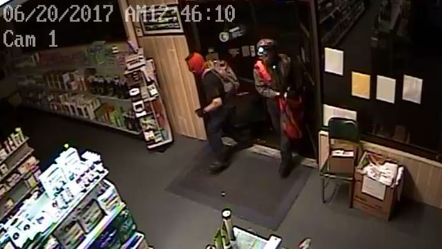 Surveillance video of the suspects entering (Courtesy: Newberry Co. Sheriff's Office)
