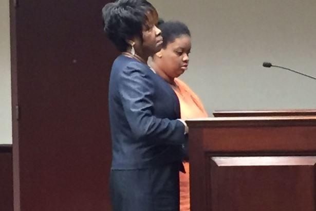 Kendra Mobley (right) pleaded guilty Tuesday (FOX Carolina/ June 20, 2017)