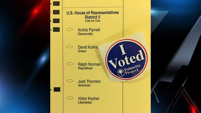 Ballot for SC's 5th Congressional seat (June 20, 2017/FOX Carolina)