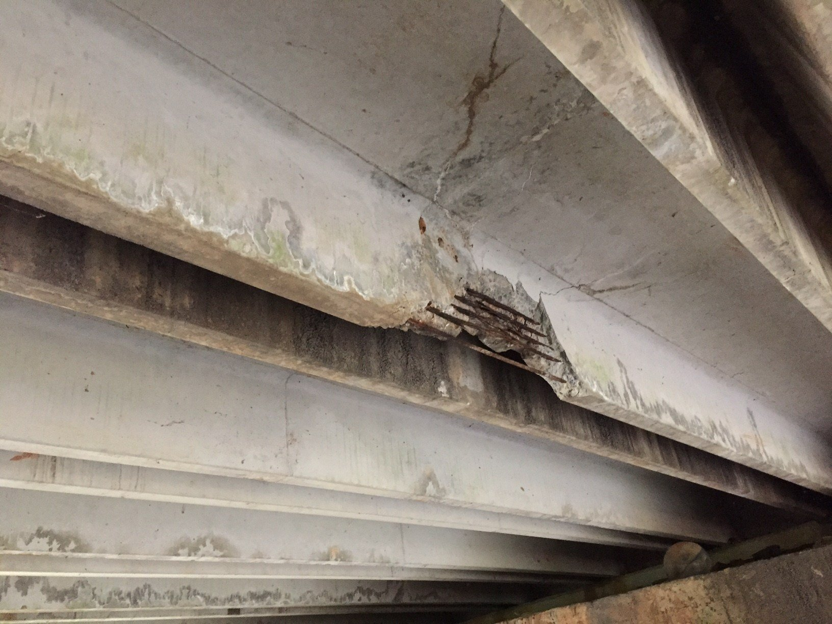 Damaged bridge on Miller Road (Source: SCDOT)